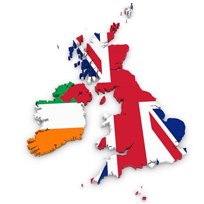zdjęcie przedstawia Wileką Brytanię i Irlandie