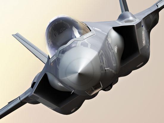 na zdjęciu jest zbliżenie na myśliwieca F35