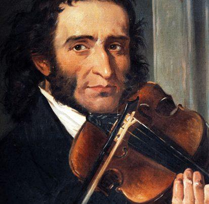 na zdjęciu jest włoski skrzypek i kompozytor Niccolo Paganini, obraz namalowany przex Andrea Cefaly