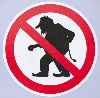 znak zakazu trollowania