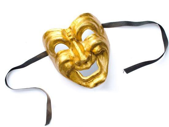 maska wenecka uśmiechnieta