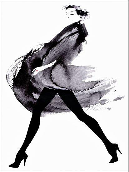 na zdjąciu jest kobieta idąca w czarnej sukience, namalowana farbami