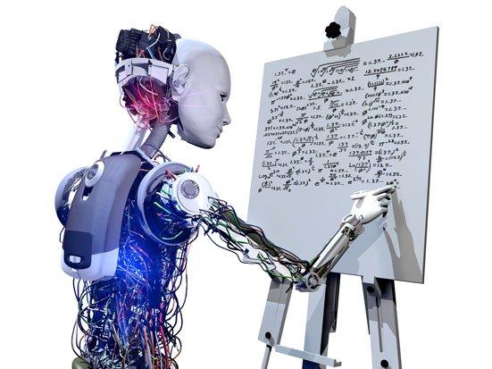 robot rozwiązujący zadanie matematyczna