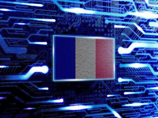 flaga francji i obwody drukowane